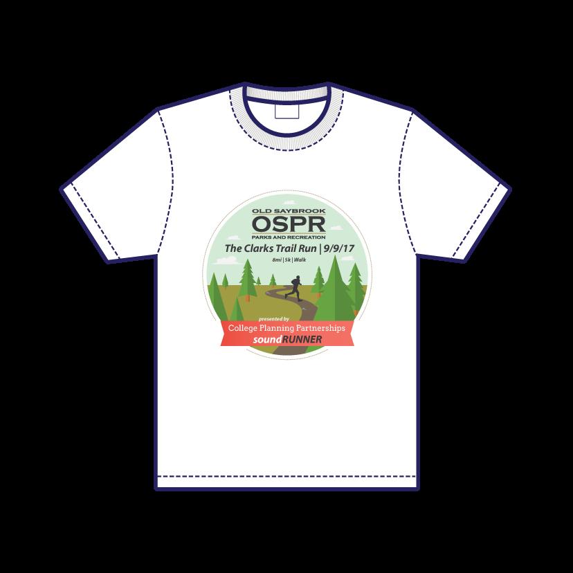Clarks Trail Run T-Shirt Front